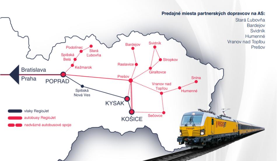 mapa východné SK